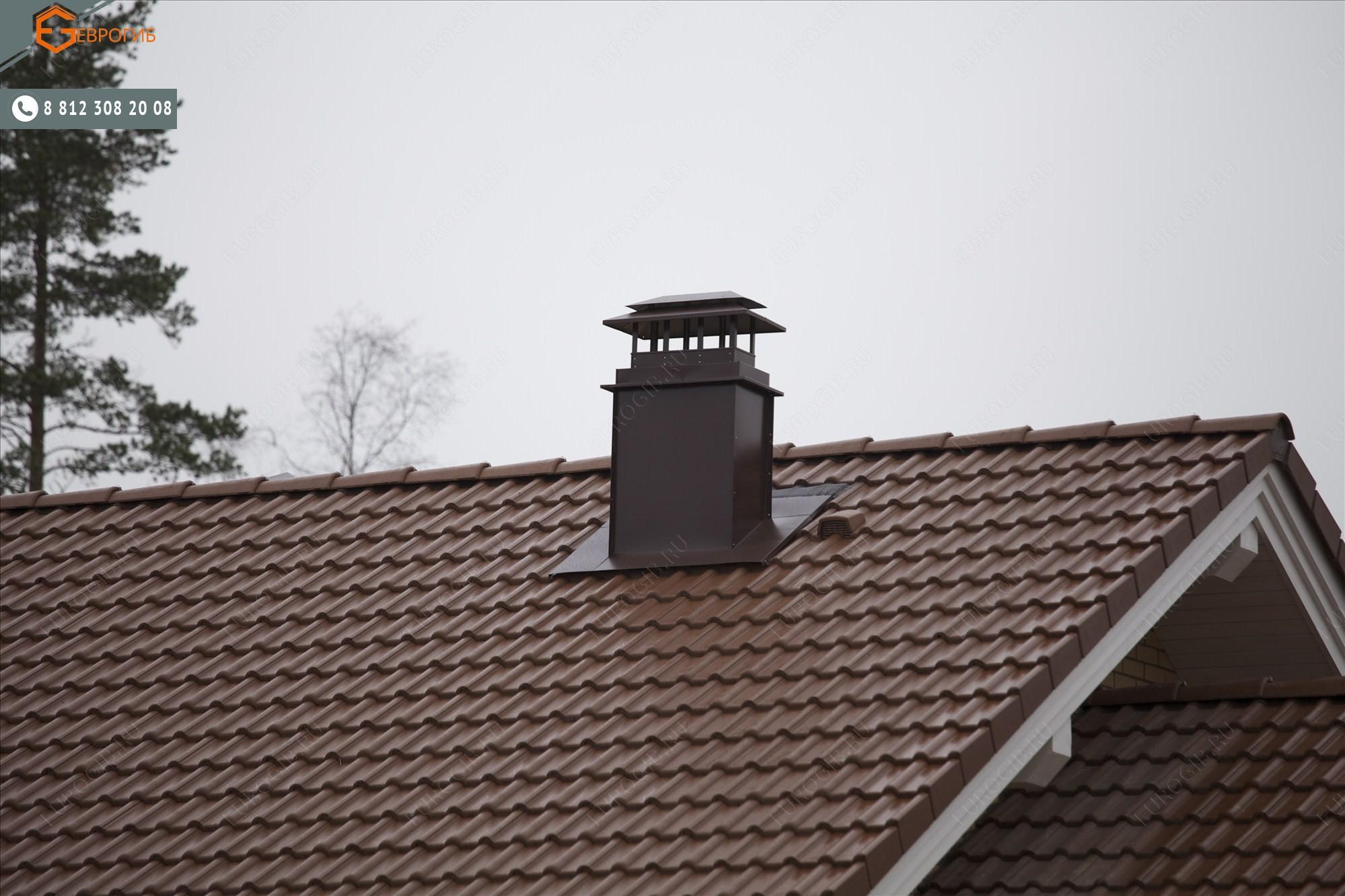 Кожух для трубы на крыше